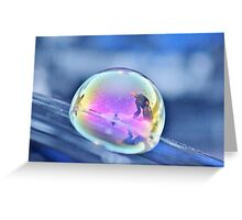 Iridescent Reflections Greeting Card