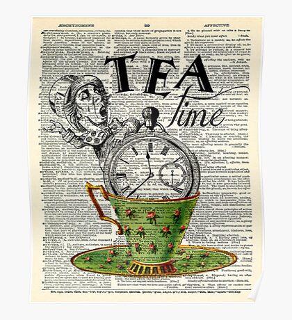 tea time - mad hatter  Poster