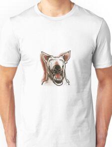 cartoon style smiling dog Unisex T-Shirt