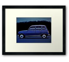 Renault 4 Painting Framed Print