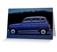 Renault 4 Painting Greeting Card