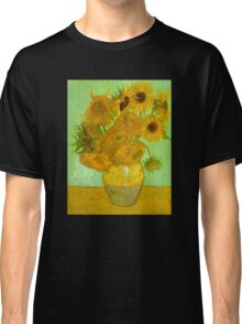 'Twelve Sunflowers' by Vincent Van Gogh (Reproduction) Classic T-Shirt