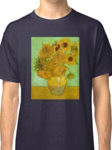 'Twelve Sunflowers' by Vincent Van Gogh (Reproduction) Classic T-Shirt