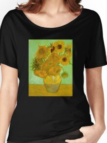 'Twelve Sunflowers' by Vincent Van Gogh (Reproduction) Women's Relaxed Fit T-Shirt