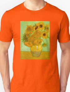 'Twelve Sunflowers' by Vincent Van Gogh (Reproduction) Unisex T-Shirt