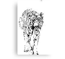 tiger photo manipulation Canvas Print