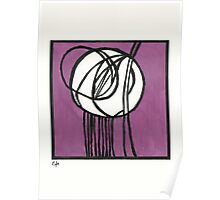 Rosebud Glass Panel by Charles Rennie Mackintosh - Watercolor Pa Poster