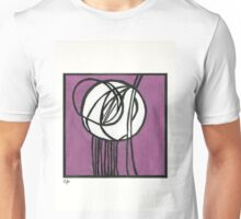 Rosebud Glass Panel by Charles Rennie Mackintosh - Watercolor Pa Unisex T-Shirt