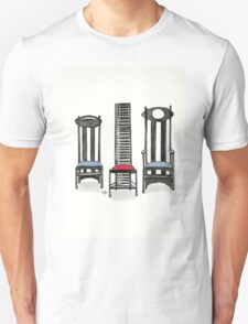 Argyle Chair- Hill House Chair And Argyle Carved Chair By Charles Rennie Mackintosh. Unisex T-Shirt