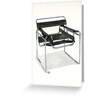 Wassily Model Chair  No. B3 - Watercolor painting  Greeting Card