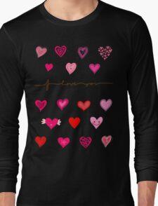 hearts (iphone case + tshirt + sticker) Long Sleeve T-Shirt