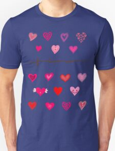 hearts (iphone case + tshirt + sticker) Unisex T-Shirt