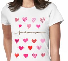hearts (iphone case + tshirt + sticker) Womens Fitted T-Shirt