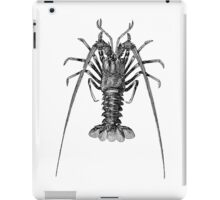 Vintage Spiny Lobster Illustration Retro 1800s Black and White Image iPad Case/Skin