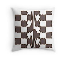 Melting chocolate chess Throw Pillow