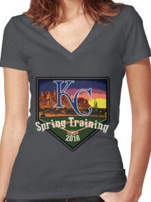 Kansas City Royals Spring Training 2016 Women's Fitted V-Neck T-Shirt