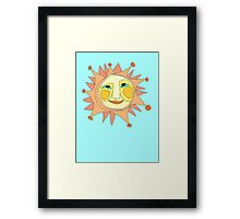 Sun Or Moon Or Stars Up In The Sky Framed Print