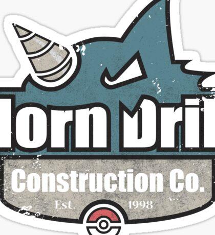 Pokemon - Horn Drill Construction Co. (Distressed) Sticker