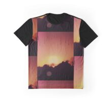 Sunset Edit with Water Drips Graphic T-Shirt