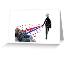 POLICE PEPPER SPRAY COLLEGE PROTESTERS Greeting Card