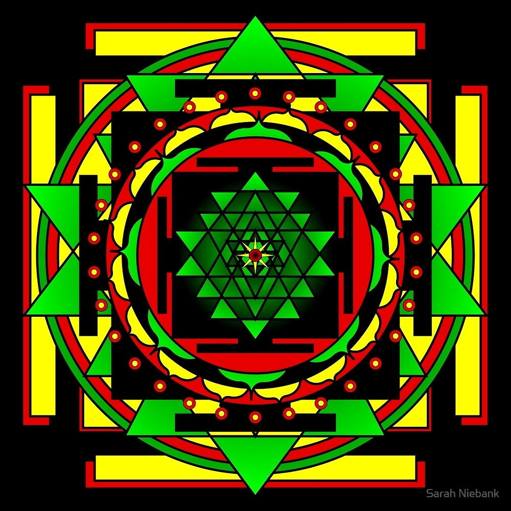 Sri Yantra Shine the love by Sarah Niebank