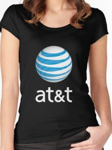 people at&t vintage Women's Fitted Scoop T-Shirt
