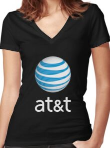people at&t vintage Women's Fitted V-Neck T-Shirt