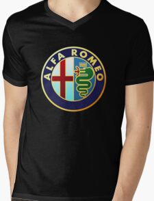 alfa romeo retro vintage Mens V-Neck T-Shirt
