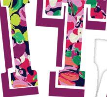 Pitt Logo Flowers Sticker