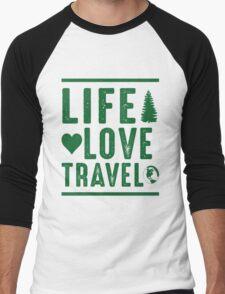 Life - Love - Travel Men's Baseball ¾ T-Shirt
