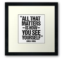 Conor McGregor - (All That Matters) Framed Print