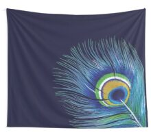 Blue Peacock Feather Wall Tapestry