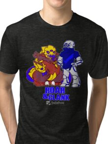 Roar and Clank Props + Hellefoot shirt Tri-blend T-Shirt