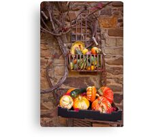 Fruit in a basket Canvas Print