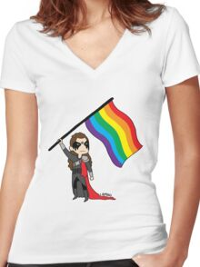 Lexa - Ready to Fight Women's Fitted V-Neck T-Shirt