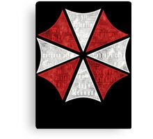 Resident Evil Umbrella Typography Canvas Print