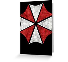 Resident Evil Umbrella Typography Greeting Card