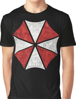 Resident Evil Umbrella Typography Graphic T-Shirt