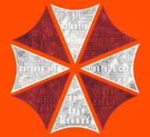 Resident Evil Umbrella Typography Kids Tee