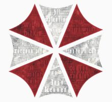 Resident Evil Umbrella Typography One Piece - Short Sleeve