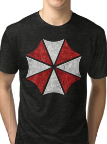 Resident Evil Umbrella Typography Tri-blend T-Shirt