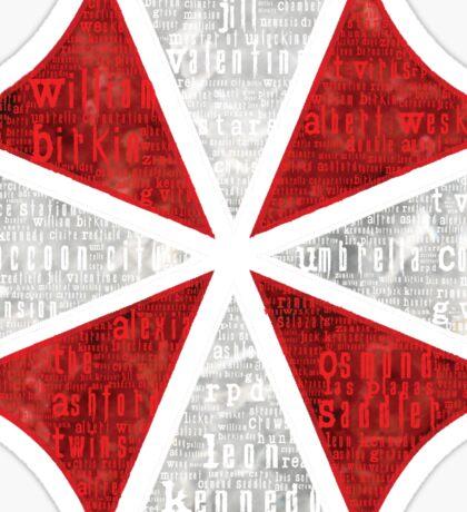 Resident Evil Umbrella Typography Sticker