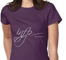 Cursive INFP The Dreamer Logo Womens Fitted T-Shirt