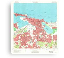 USGS TOPO Map Puerto Rico PR San Juan 362263 1963 20000 Canvas Print