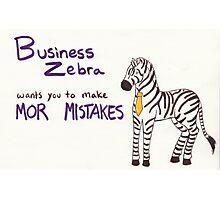 Business Zebra Photographic Print
