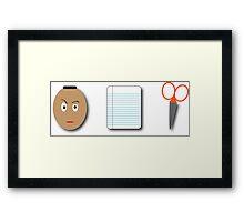The Rock, Paper, scissors Framed Print