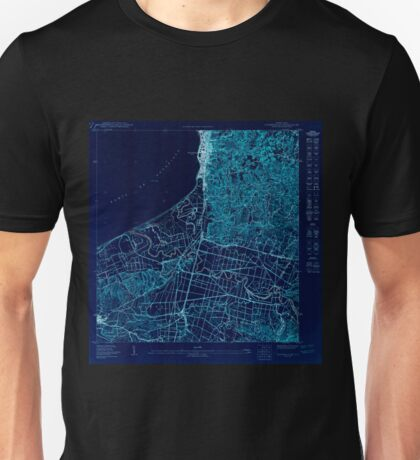 USGS TOPO Map Puerto Rico PR Aguadilla SE 361915 1950 10000 Inverted Unisex T-Shirt
