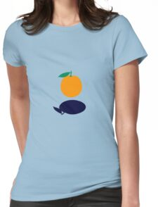 Orange Floating Womens Fitted T-Shirt