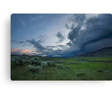 Storm over Lamar Valley, Yellowstone Canvas Print