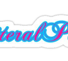 LITERALPORN PINK & BLUE SCRIPT Sticker